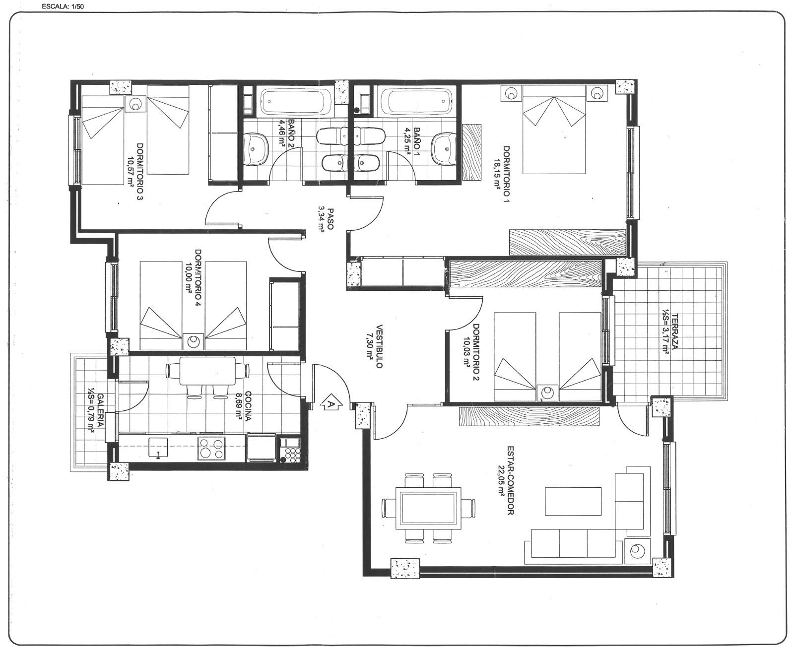 Plano general de la vivienda